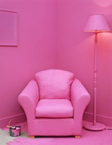 Kárpitos fotel a szobához igazítva :-)