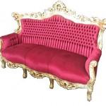 Bársony kárpitos kanapé